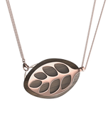Leaf Nature Lunar Necklace  | Rose Gold