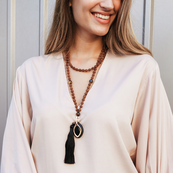 Leaf Chakra + Mala necklace - Bellabeat