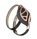Leaf Urban Anthracite Rose Gold Bracelet