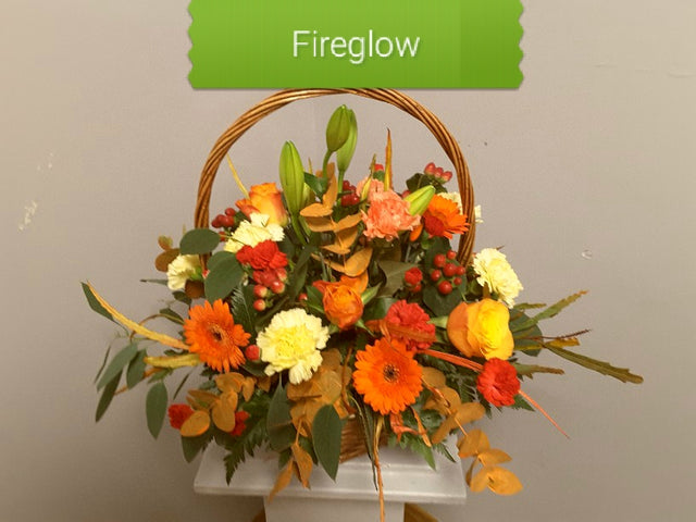 Fireglow Basket Arrangement