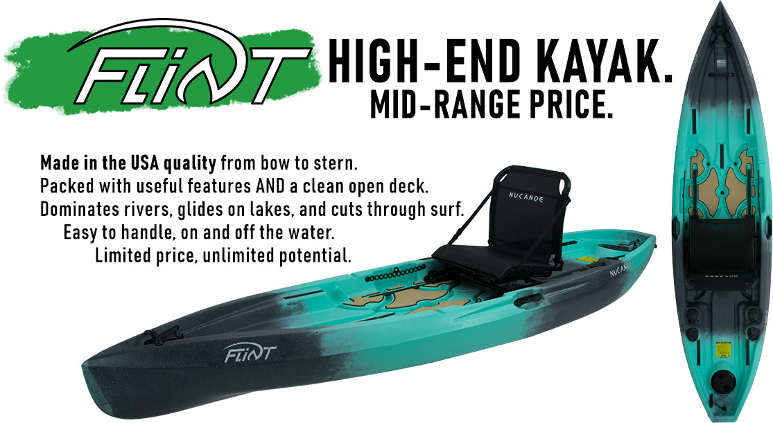 kayak creek nucanoe 2020 flint fishing kayak