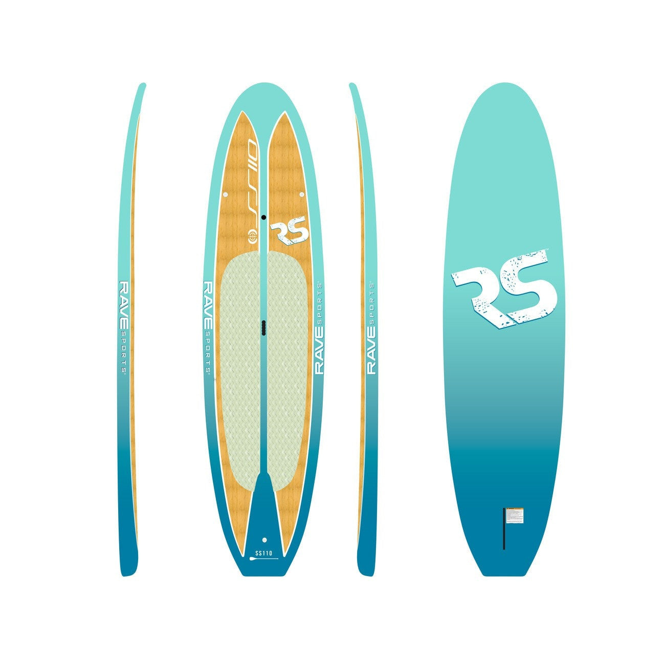 Rave Sports Shoreline Series SS110 Stand Up Paddle Board SUP - 02728 - Kayak Creek