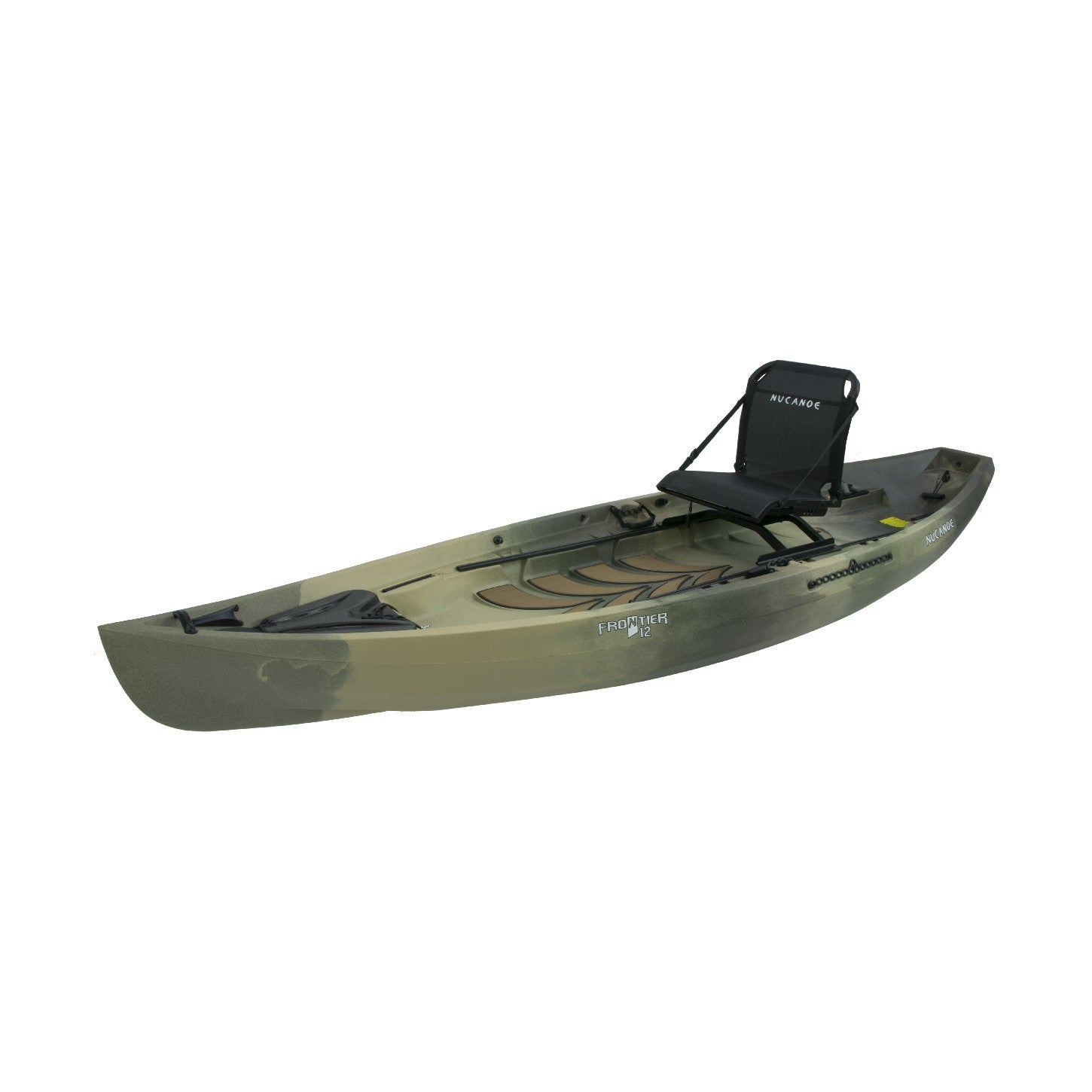 NuCanoe Frontier 12 Fishing Kayak 2020 | Army Camo - Kayak Creek