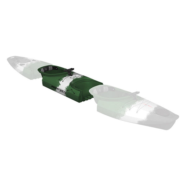 Point 65 Martini GTX Angler Kayak - Mid Section - Green Camo - Kayak Creek