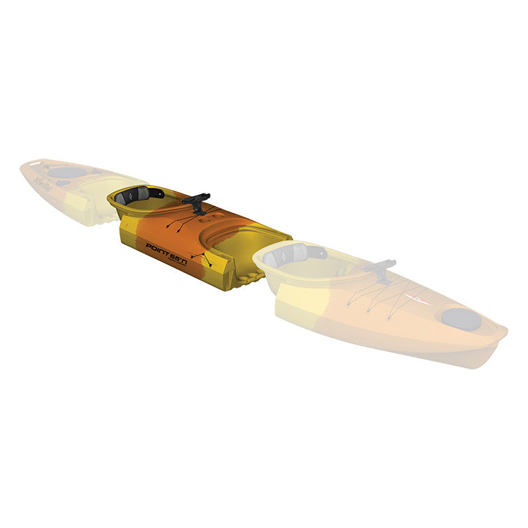 Point 65 Martini GTX Angler Kayak - Mid Section - Yellow/Orange - Kayak Creek