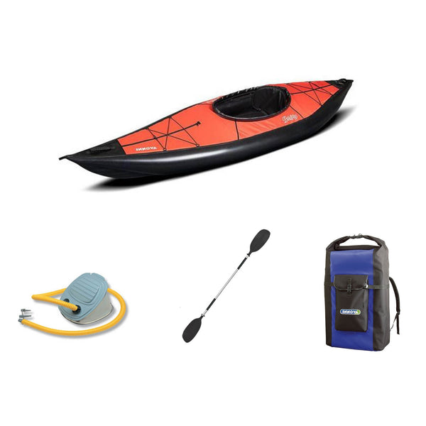 Innova Swing I Red Inflatable Kayak Bundle | Paddle & Pump - Kayak Creek