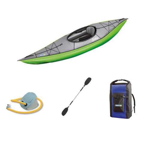Innova Swing I Green Inflatable Kayak Bundle | Paddle & Pump - Kayak Creek