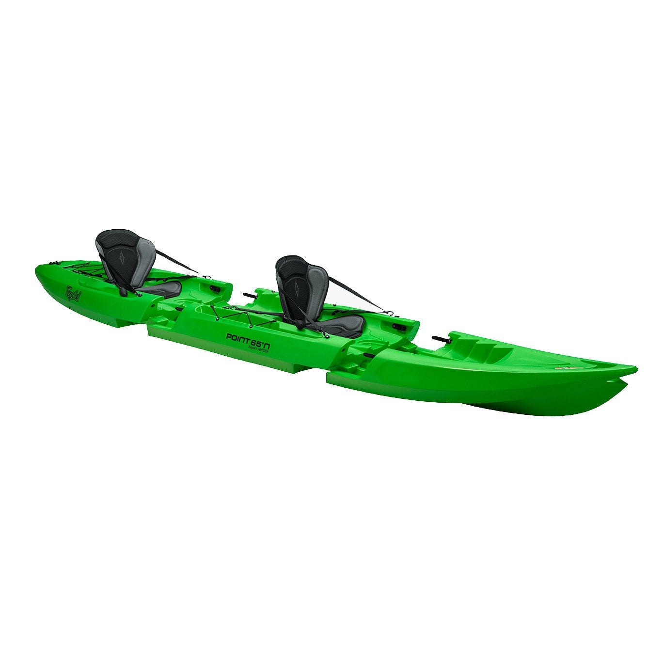 Point 65 Tequila! GTX Tandem Modular Kayak - Lime - Kayak Creek