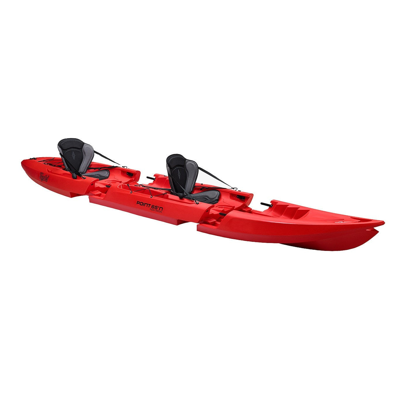 Point 65 Tequila! GTX Tandem Modular Kayak - Red - Kayak Creek