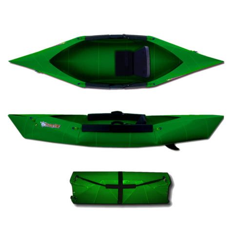 Tucktec Folding Kayak | Hunter Green - Kayak Creek