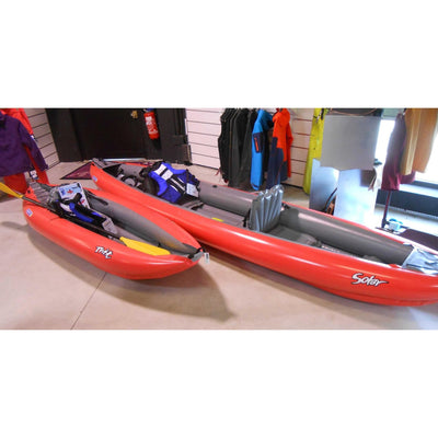 Innova Solar 410 C Green Inflatable Kayak Bundle | Paddle & Pump - Kayak Creek