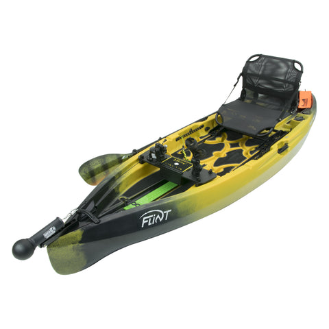 NuCanoe Flint SMART Fishing Kayak Package | STINGER Yellow - Kayak Creek