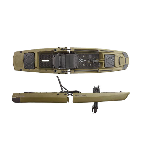 Point 65 KingFisher Modular Fishing Kayak | Green - Kayak Creek