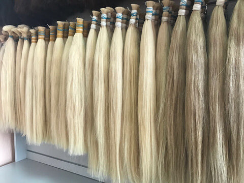 Russian Clip in hair extensions Wholesale
