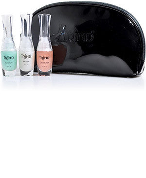 For a limited time receive a black cosmetic bag with the Perfect Cuticle and Nail Kit products.