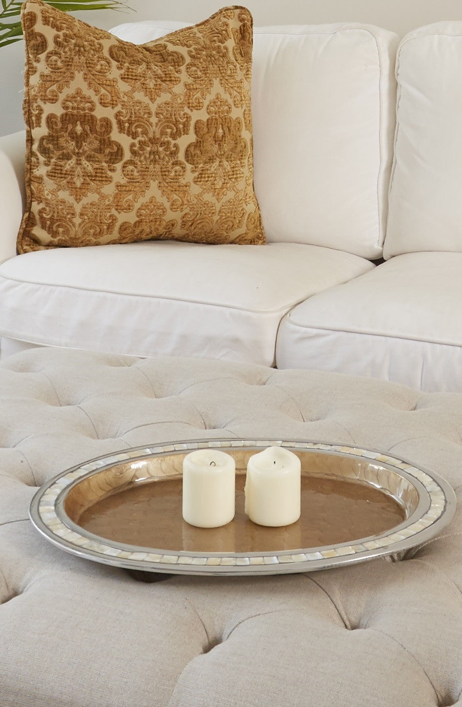 Inlay Mother Of Pearl Tray Coffee Table Tray