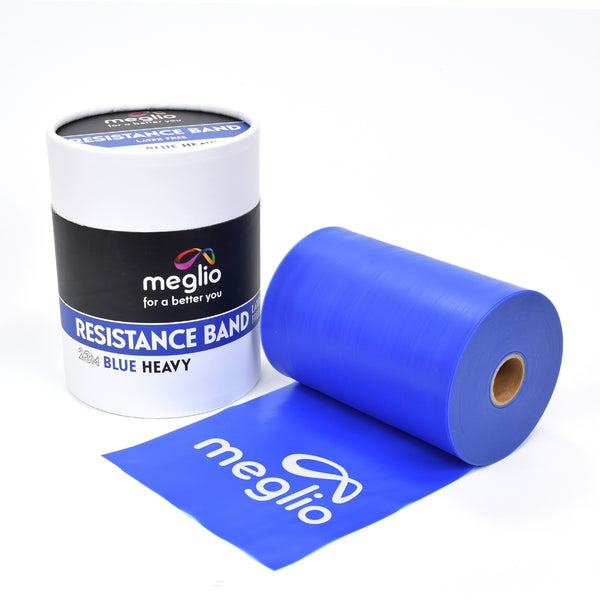 Blue Heavy Resistance Band Roll 23M Latex Free