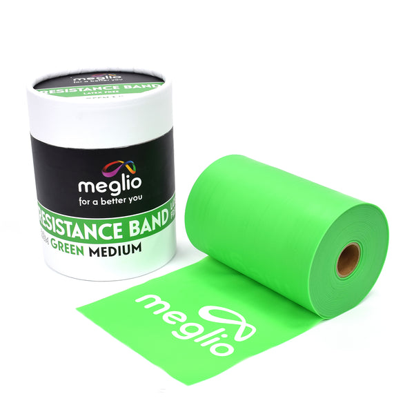 Green Medium Resistance Band Roll 23M Latex Free