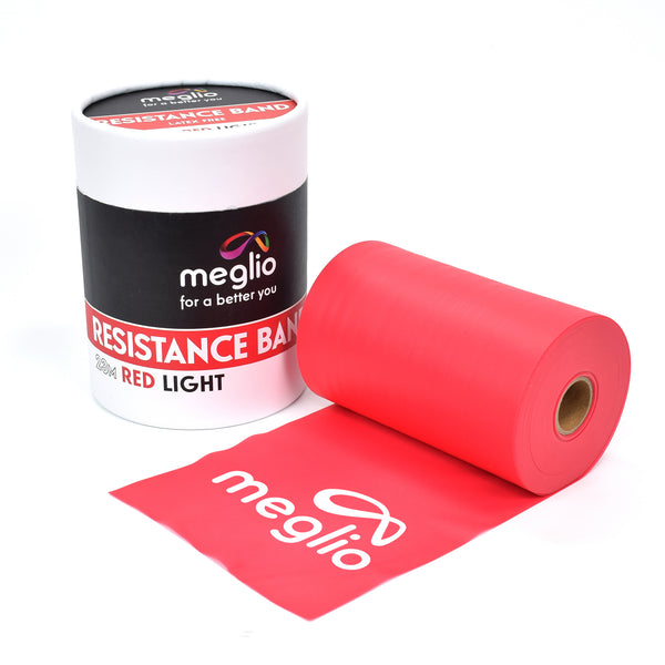 Red Light Resistance Band Roll 23M Latex Free