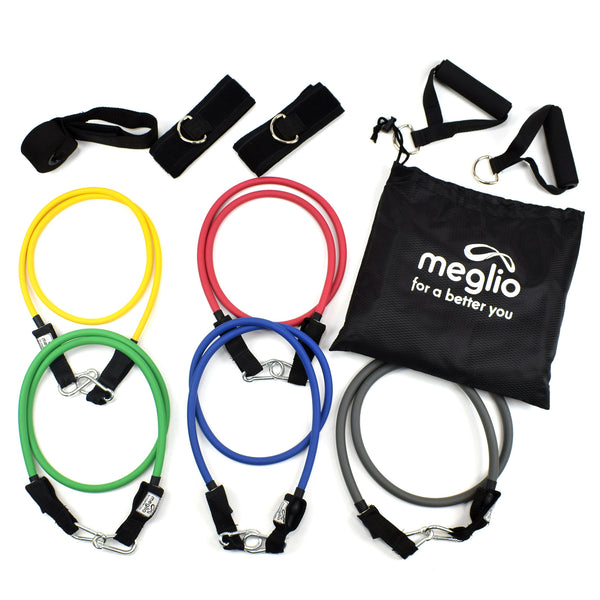 What's inside the Meglio Resistance Tubing Pack