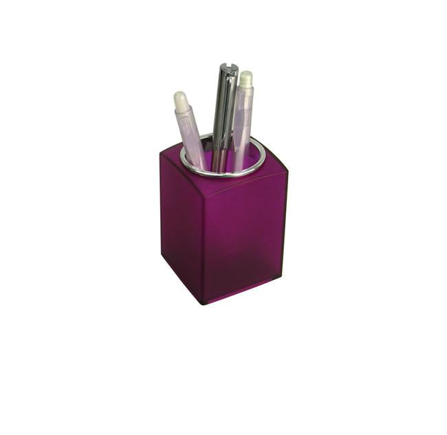 Purple pen holder