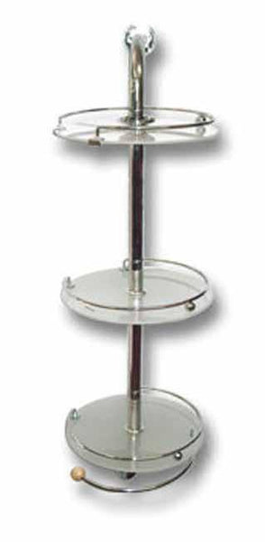 3 Tier chrome And Frosted glass wall mounted shower caddy