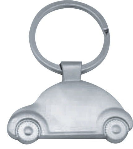 Matt silver keyring 'car shape' in presentation box