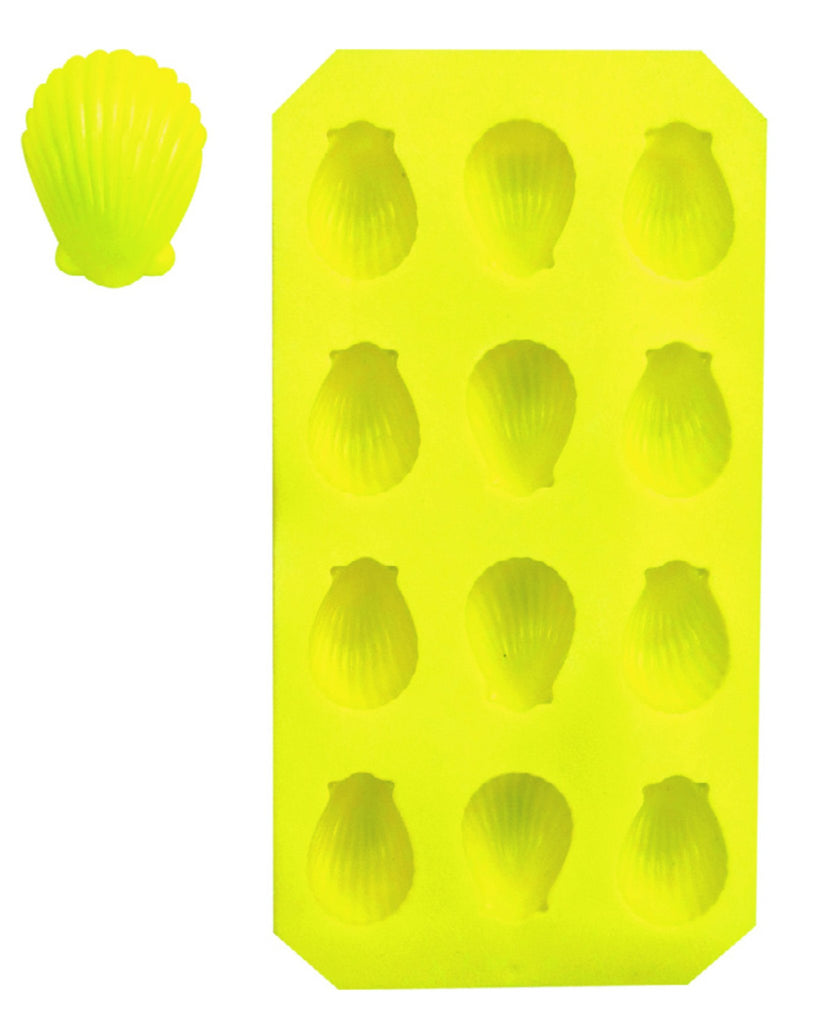 Yellow 'shells' ice cube tray