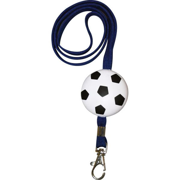 Black and white 'soccerball' lanyard with clip, Personal Accessories - Presence