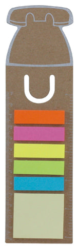 3-in-1 bookmark with sticky notes and ruler 'office', Office - Presence