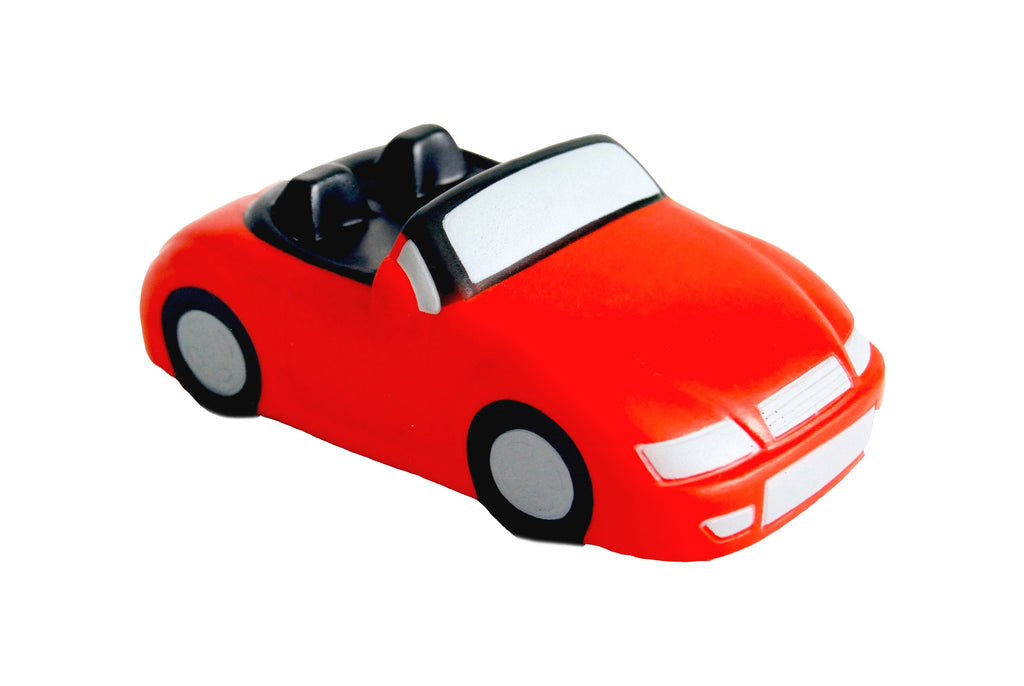 Red and black car PU anti stress ball