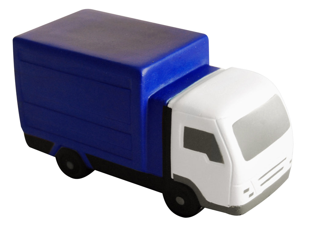 Blue and white truck PU anti stress ball