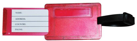 Red 'rectangular' luggage tag