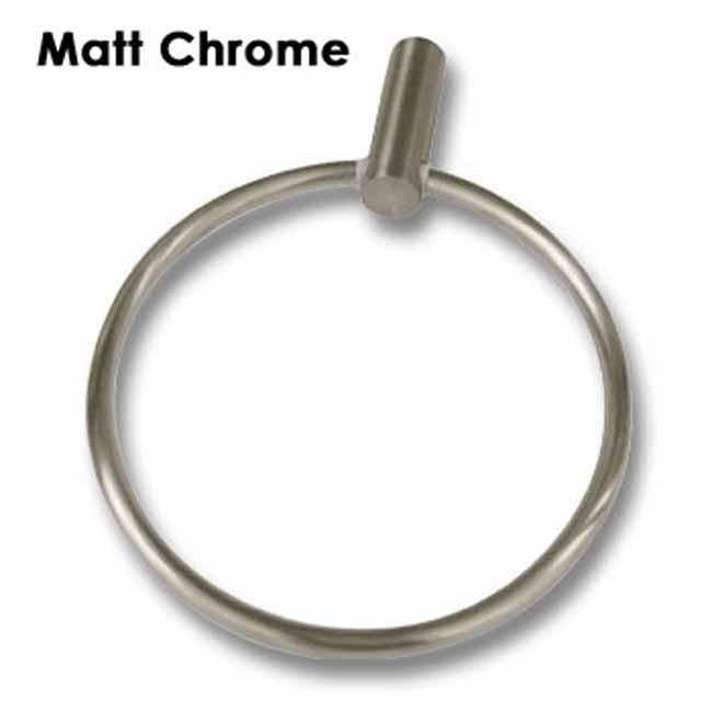Matt chrome wall mounted towel ring