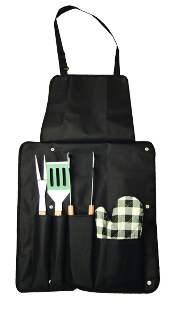 5pc braai utensil set in fold up apron, Leisure - Presence