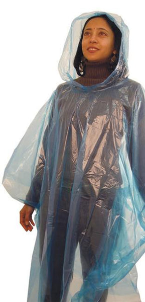 Clear unisex disposable poncho