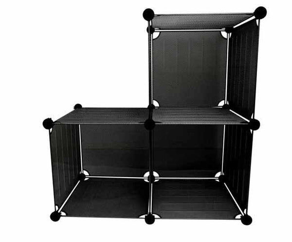 Black mesh stackable storage cubes, Office - Presence