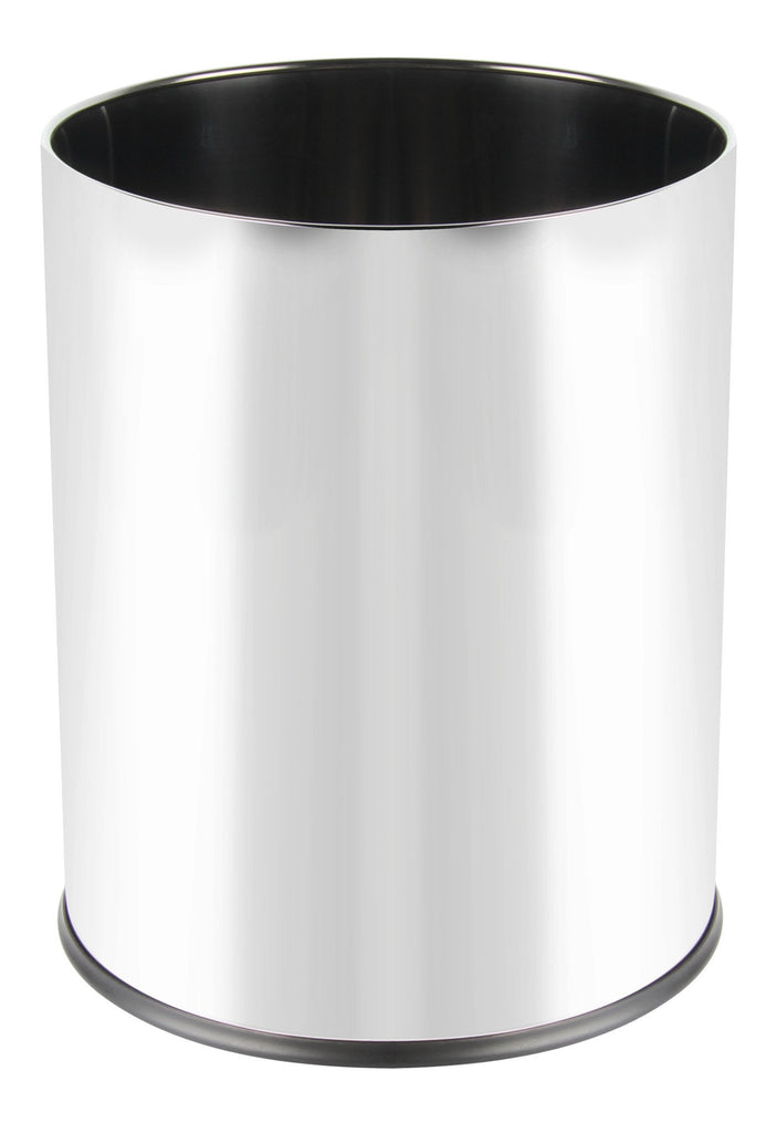 Stainless steel round mirror finish bin (5L)