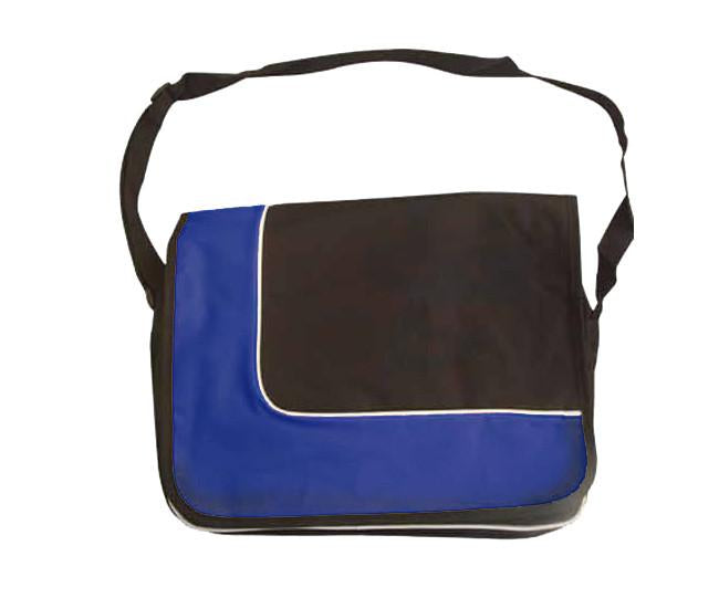 Royal blue and black document bag