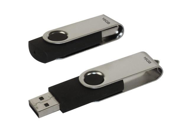 4GB silver flash drive with hook in frosted presentation case, Computer Accessories - Presence