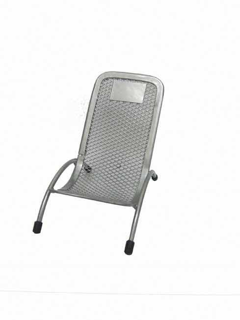 Silver mesh cellphone holder with logo plate