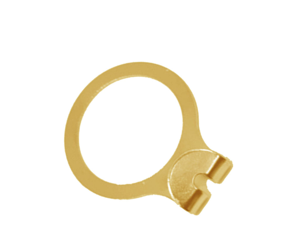 Brass anti-theft hanger security ring