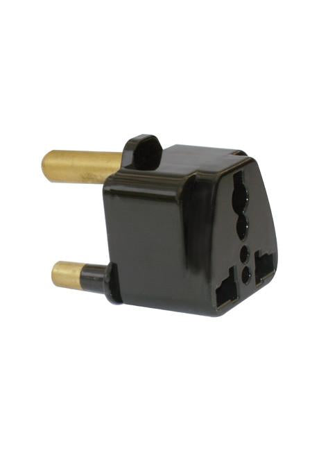Black travel adaptor for international visitors to SA