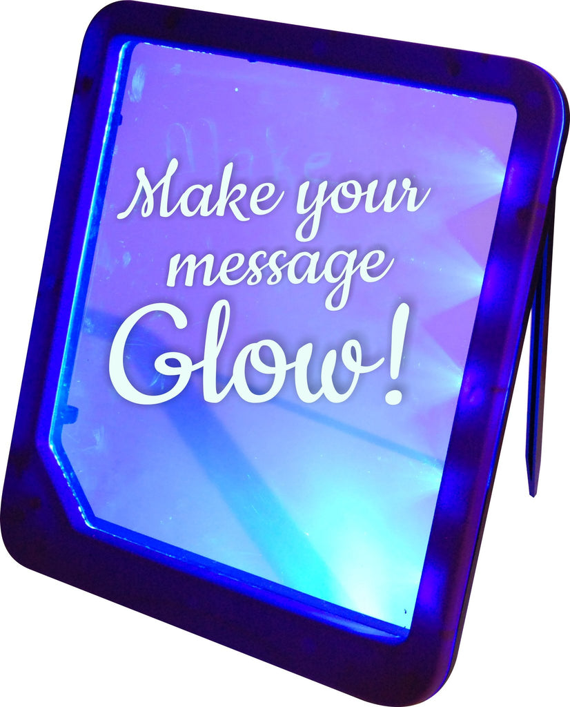 LED light message board with erasable marker (batteries included)