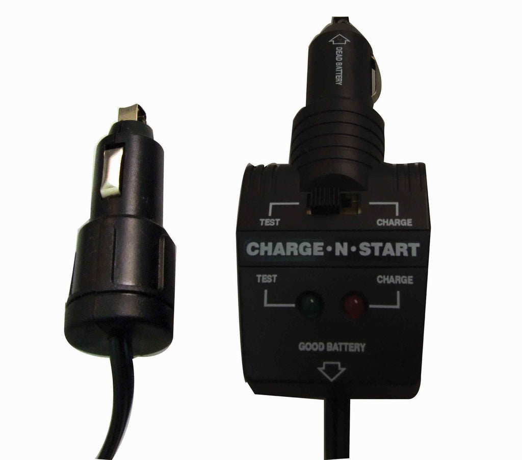 Black 'charge and start' car charger
