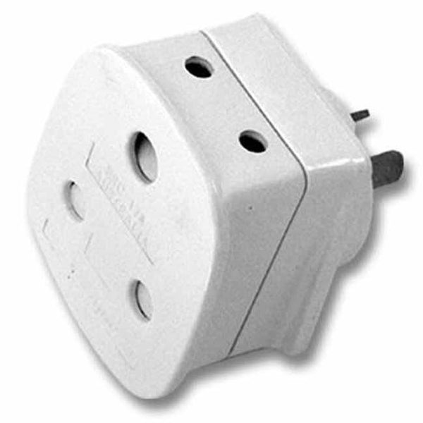 White adaptor for SA visitors to Australia