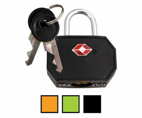 Black TSA brass coated padlock