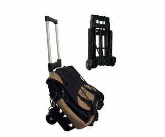 Portable folding luggage trolley