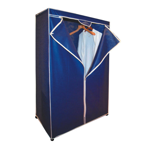 Royal blue collapsible storage wardrobe