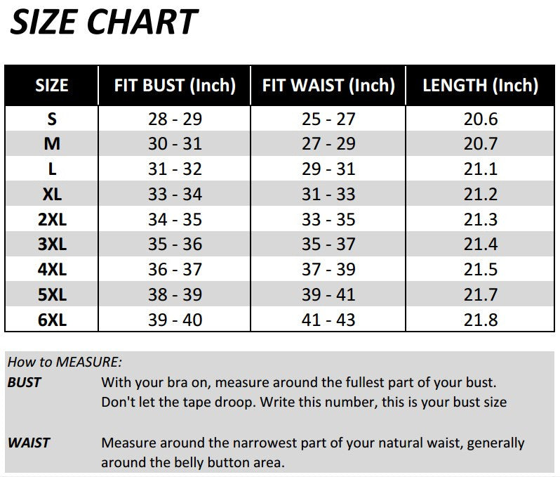 Image result for size chart for waist trainers